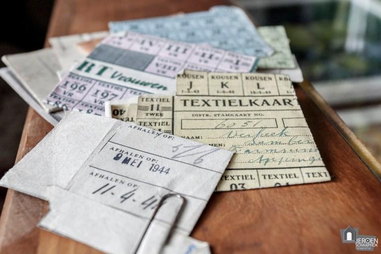 111/365 Textielbonnen uit WOII