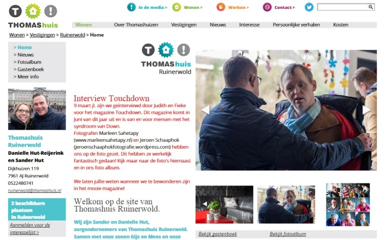 publicatie website thomashuis